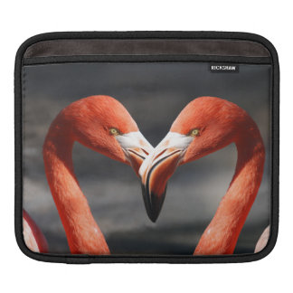 Pink Flamingo Love Sleeves For iPads