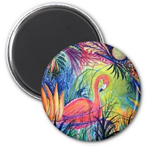 Pink Flamingo Magnets