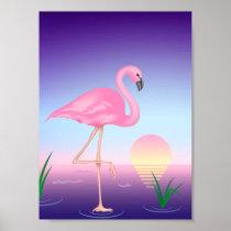 Pink Flamingo Mini Poster