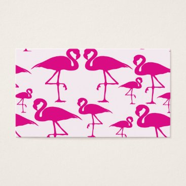 Professional Business Pink flamingo Monogram Business Card