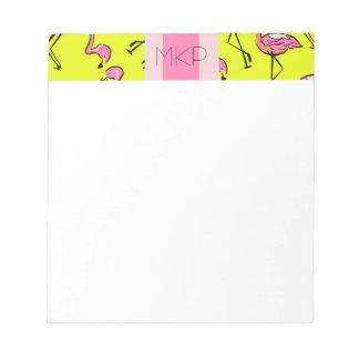 Pink Flamingo Monogram Note Pad