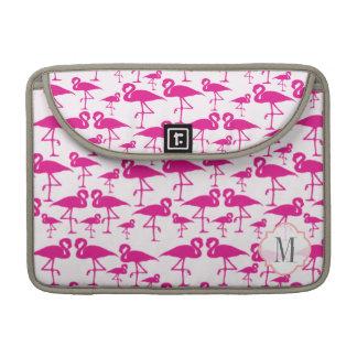 Pink flamingo monogram sleeve for MacBook pro