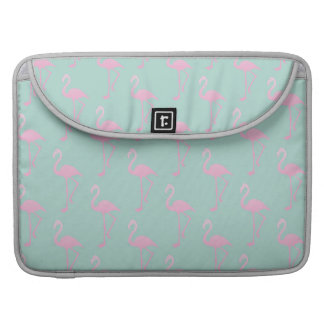 Pink Flamingo on Teal Seamless Pattern MacBook Pro Sleeve