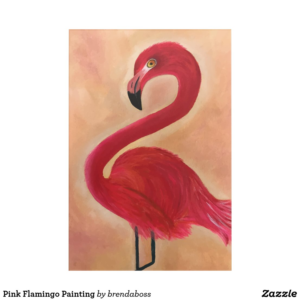 Pink Flamingo Painting Acrylic Print