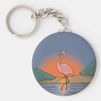 Pink Flamingo Painting Keychain
