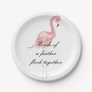 Pink Flamingo Party Paper Plates  sc 1 st  Zazzle & Flamingo Plates | Zazzle