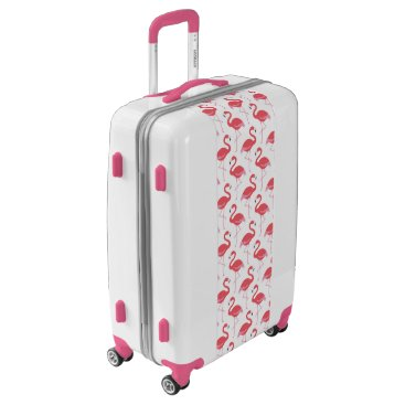 Beach Themed Pink Flamingo pattern Beach luggage