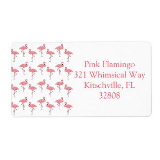 Pink Flamingo Pattern Custom Labels