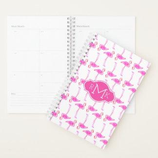 Pink Flamingo Pattern | Monogram Planner