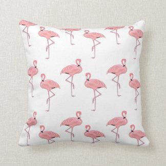 pink flamingo pattern throw pillow