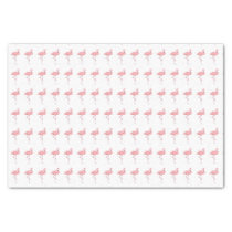 Pink Flamingo Pattern Tissue Paper