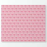 Pink Flamingo Pattern Wrapping Paper