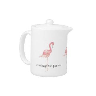 Pink Flamingo Personal Teapot