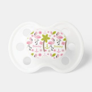 Pink Flamingo Personalized Pacifier