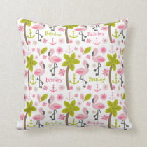 Pink Flamingo Personalized Pillow