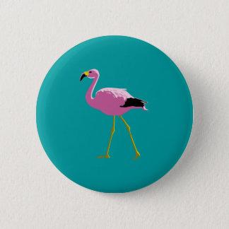Pink Flamingo Pinback Button