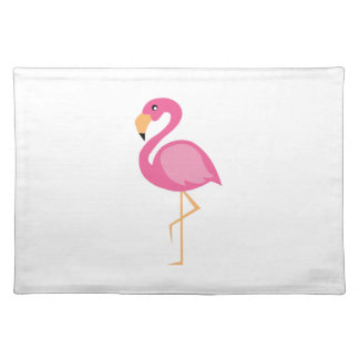 Pink Flamingo Cloth Place Mat
