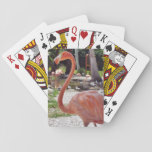 "Pink Flamingo Playing Cards<br><div class=""desc"">pink flamingo close-up</div>"