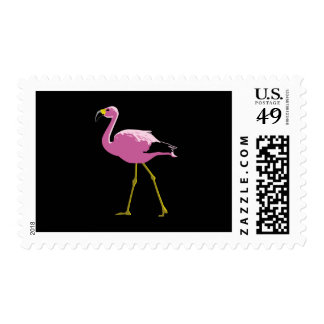Pink Flamingo Postage Stamp