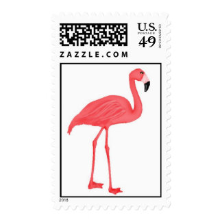 Pink Flamingo Postage  Stamps