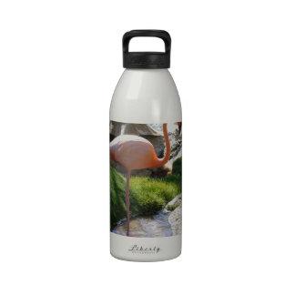 Pink Flamingo Reusable Water Bottle