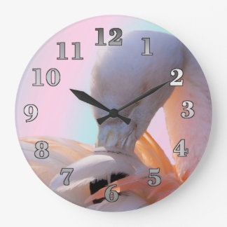 Pink Flamingo Round (Large) Wall Clock
