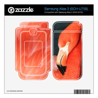 Pink Flamingo Samsung Alias 2 SCH-U750 Skin Decal For Samsung Alias 2
