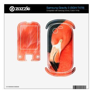 Pink Flamingo Samsung Gravity 3 SGH-T479 Skin Samsung Gravity 3 Decals