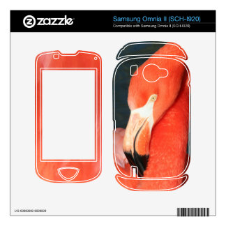 Pink Flamingo Samsung Omnia II (SCH-I920) Skin Samsung Omnia II Decals