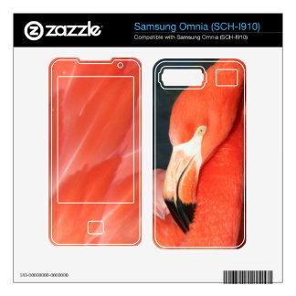 Pink Flamingo Samsung Omnia SCH-I910 Skin Samsung Omnia Skin