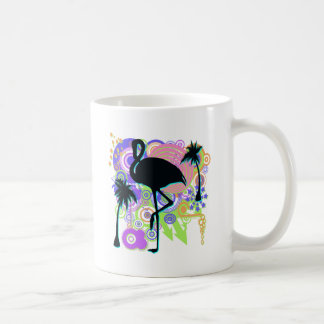 Pink Flamingo Silhouette Coffee Mug