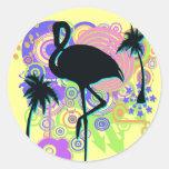 Pink Flamingo Silhouette Sticker
