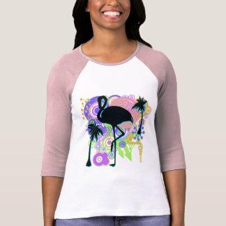 Pink Flamingo Silhouette T Shirt