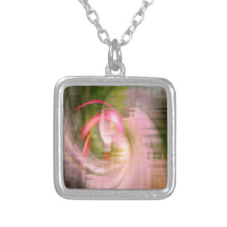 Pink Flamingo Silver Plated Necklace