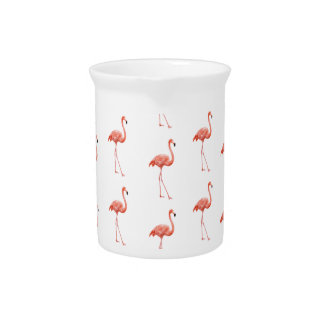 Pink Flamingo Simple Pattern Drink Pitchers