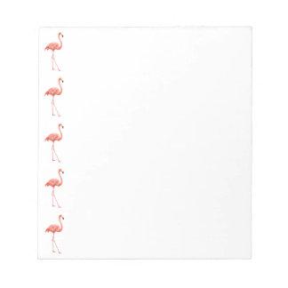 Pink Flamingo Simple Pattern Notepad
