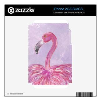 Pink Flamingo iPhone 3 Decals