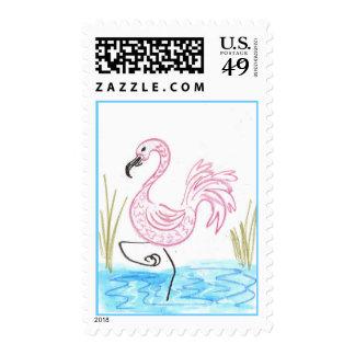 Pink Flamingo Stamps