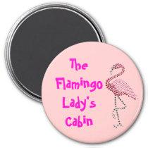 Pink Flamingo Stateroom  Door Marker Magnet