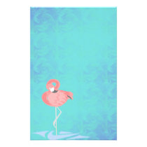 Pink Flamingo Stationery