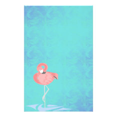 Pink Flamingo Stationery at Zazzle