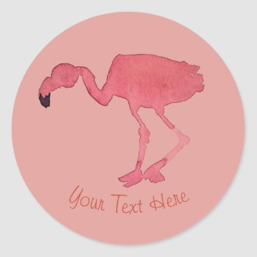 Beach Themed Pink Flamingo Sticker