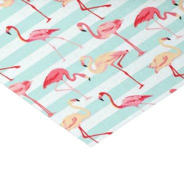 doodlesgifts Pink flamingo stripe pattern tissue paper