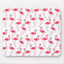 Pink Flamingo Summer Pattern Mouse Pad