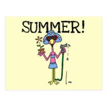Pink Flamingo Summer T-shirts and Gifts Postcard