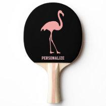 Pink flamingo table tennis ping pong paddle