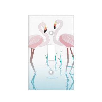 Pink Flamingo Theme Home Decor Light Switch Cover