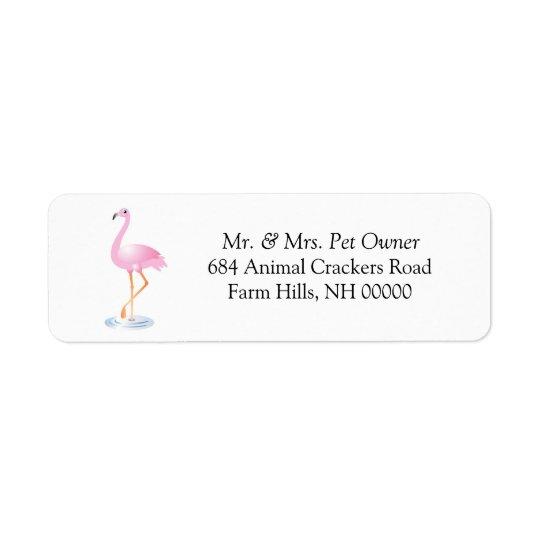 Pink Flamingo Theme Return Address Labels Stickers