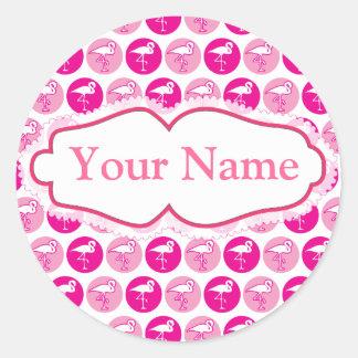 Pink flamingo theme sticker