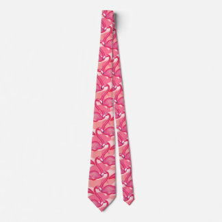 pink flamingo tie double sided